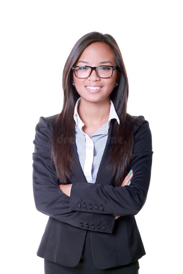 azjatykcia biznesowa uśmiechnięta kobieta obraz royalty free