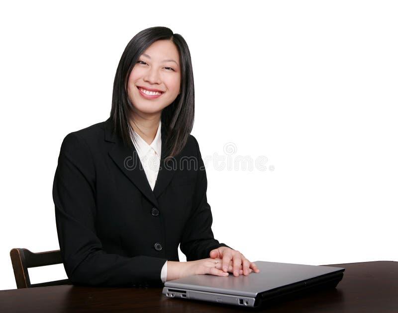 azjatykcia biznesowej kobieta uśmiechnięta obrazy royalty free