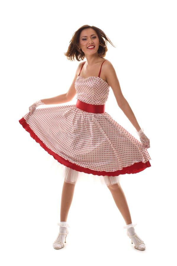 azjatykcia dancingowa dziewczyna obraz royalty free