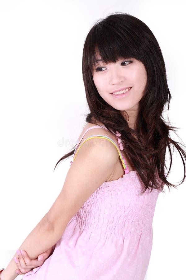 Download Azjatykcia dziewczyna zdjęcie stock. Obraz złożonej z hairball - 8455970