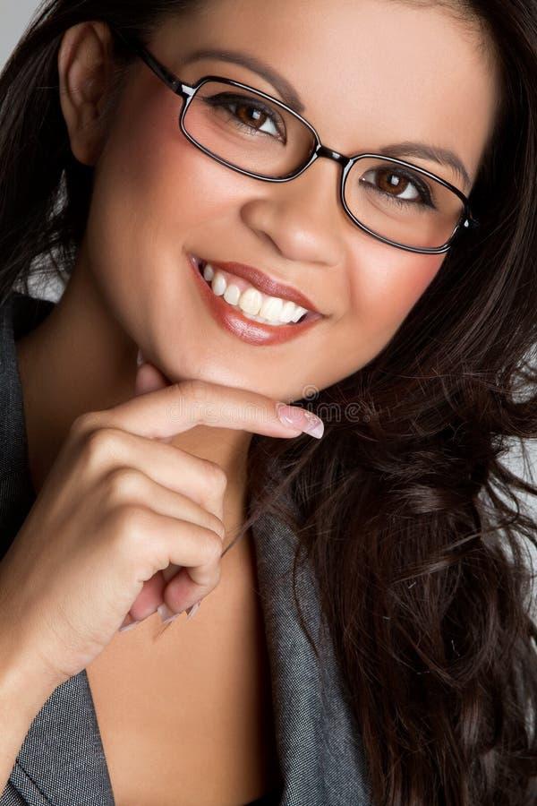 azjatykcia myśląca kobieta zdjęcie royalty free