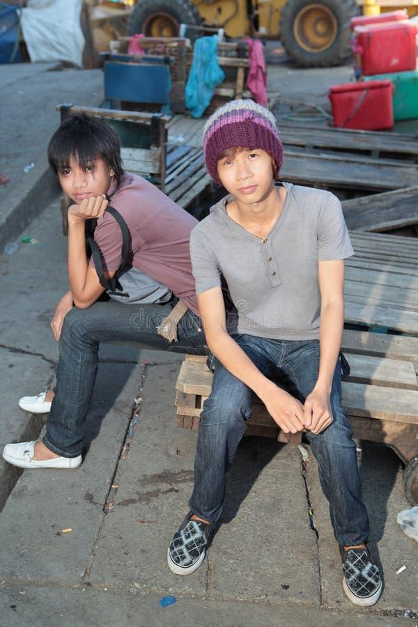 azjatykcia obwieszenia azjatykci miastowa młodość obrazy royalty free