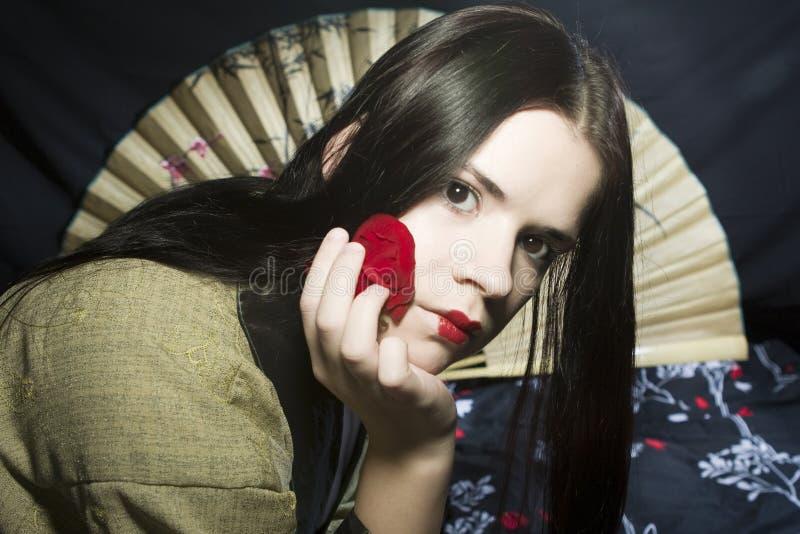azjatykcia opieki twarzy kobieta zdjęcia stock