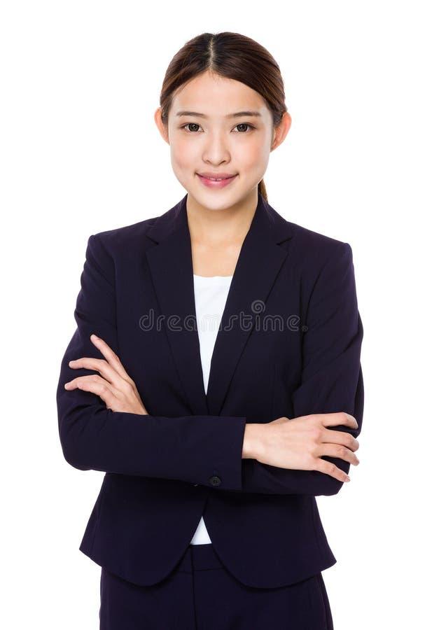 azjatykcia pewna kobieta jednostek gospodarczych fotografia royalty free