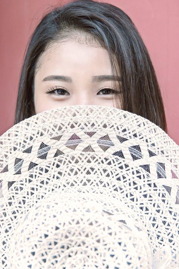 azjatykcia piękna dof dziewczyny portreta płycizna zdjęcie royalty free