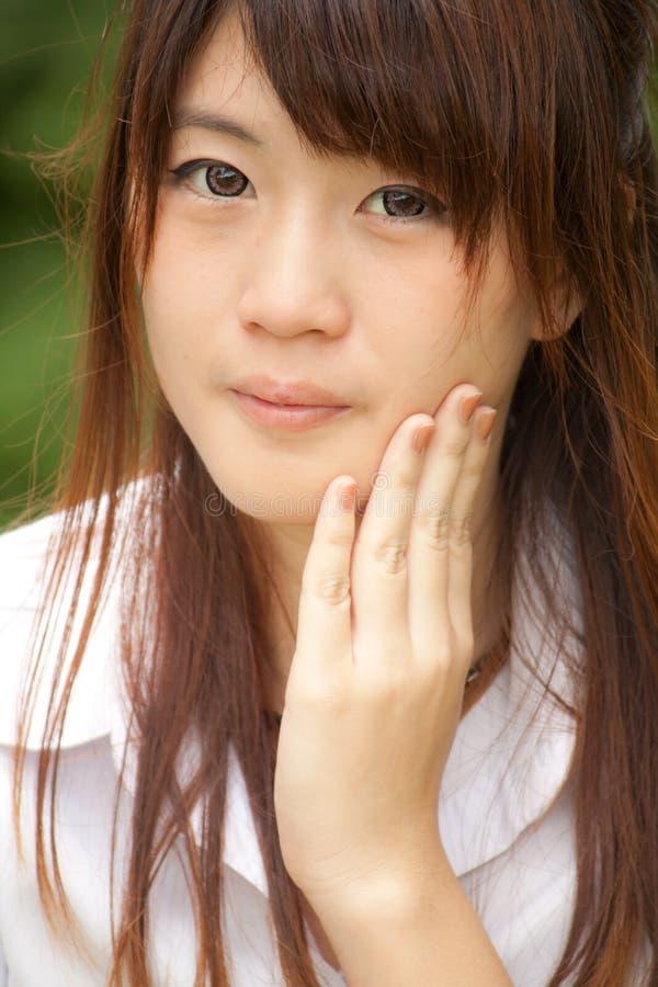 azjatykcia piękna dziewczyna zdjęcie royalty free