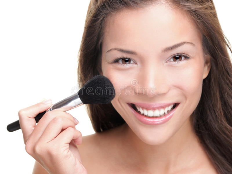 azjatykcia piękna makeup kobieta zdjęcie stock