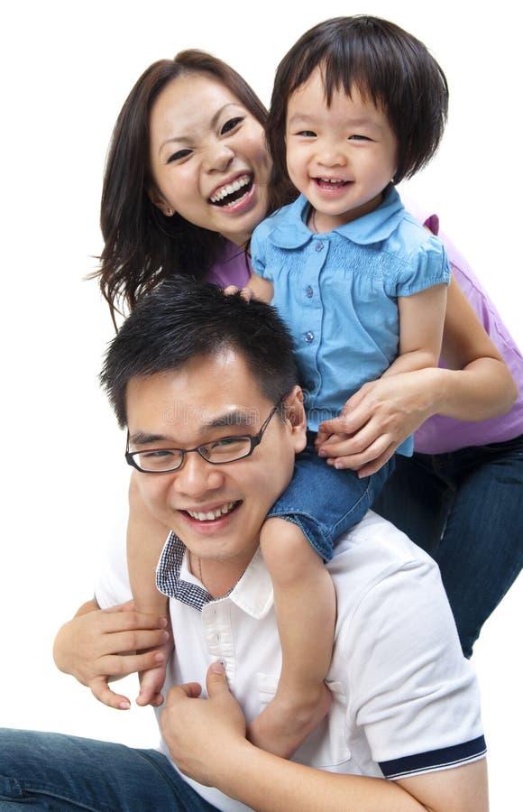 azjatykcia rodzina fotografia stock