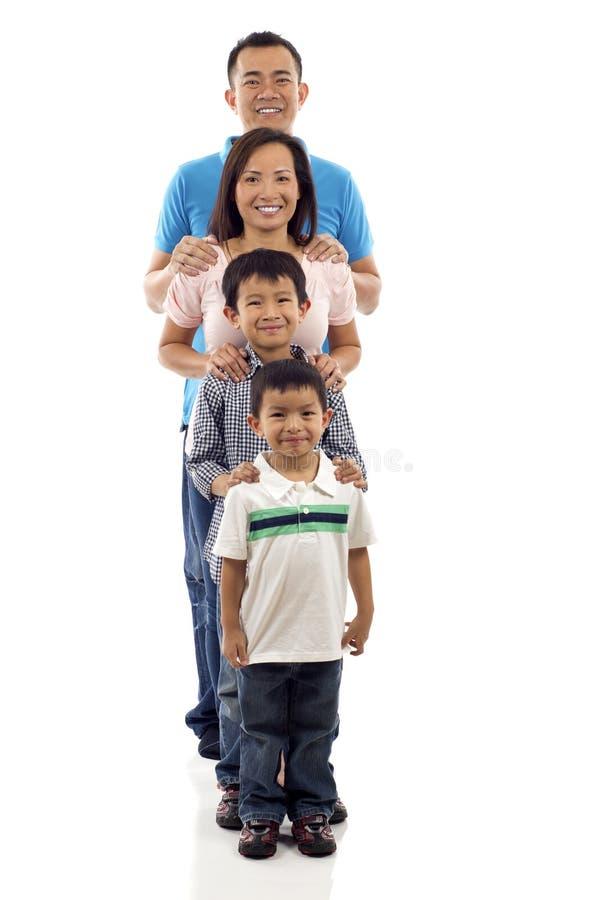 azjatykcia rodzina zdjęcia royalty free