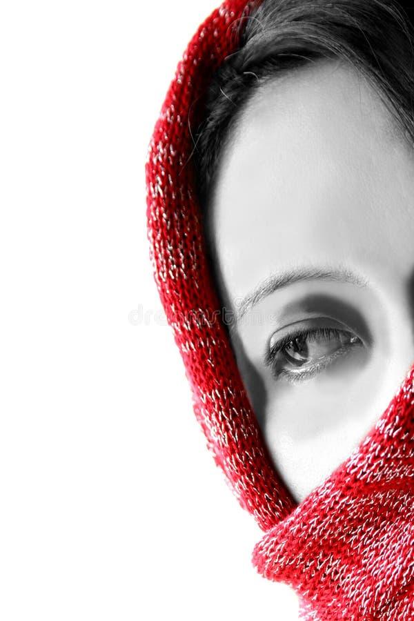 azjatykcia tajemnicza kobieta zdjęcia stock