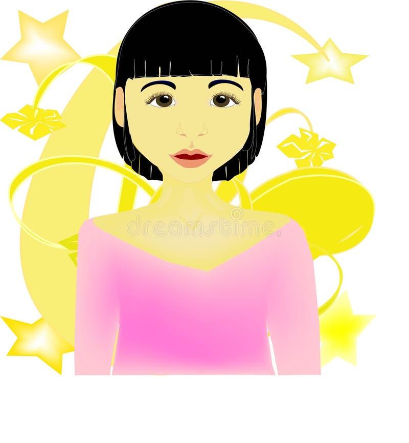 azjatykcia twarz ilustracja wektor