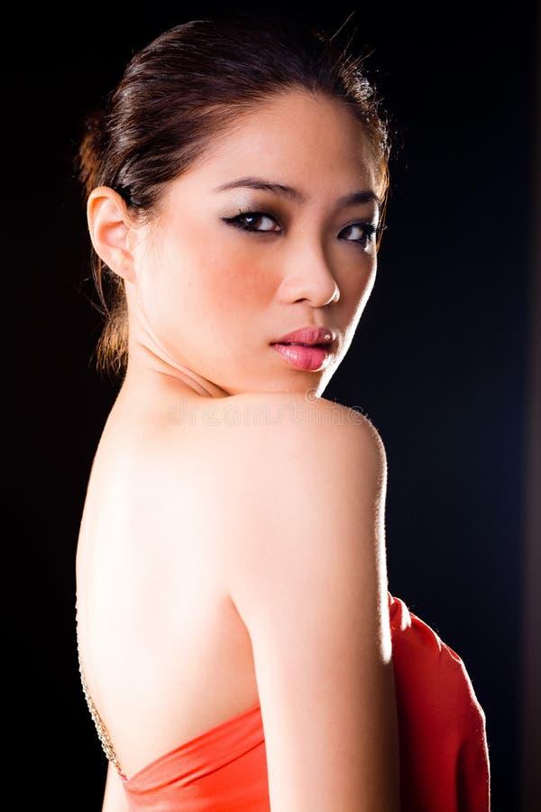 azjatykcia wspaniała kobieta zdjęcie royalty free