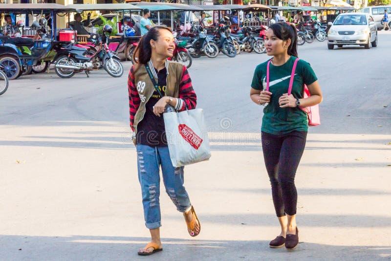 azjatykcie dziewczyny dwa potomstwa zdjęcie royalty free