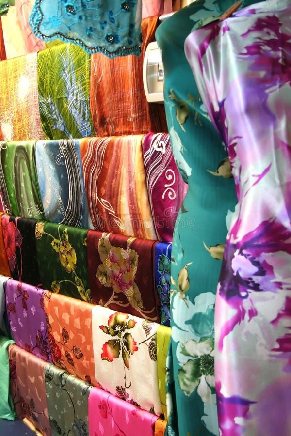 azjatykcie tkaniny zdjęcia royalty free