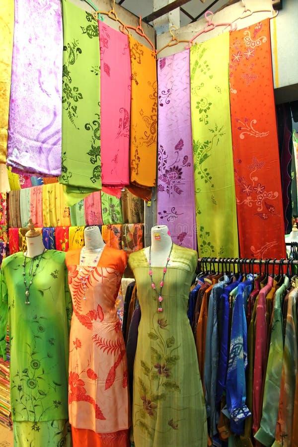 azjatykcie tradycyjne tkaniny zdjęcie stock