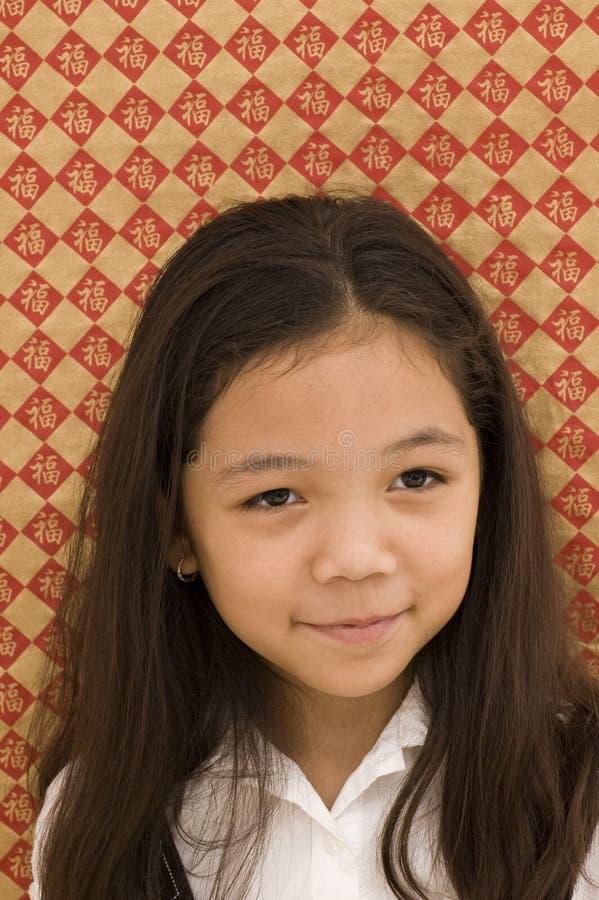 azjatykciego dziewczyny spojrzenia sowizdrzalski portret obraz royalty free