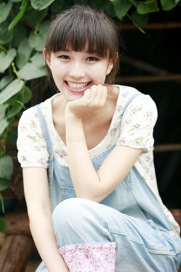 azjatykciego piękna plenerowy portret zdjęcie stock