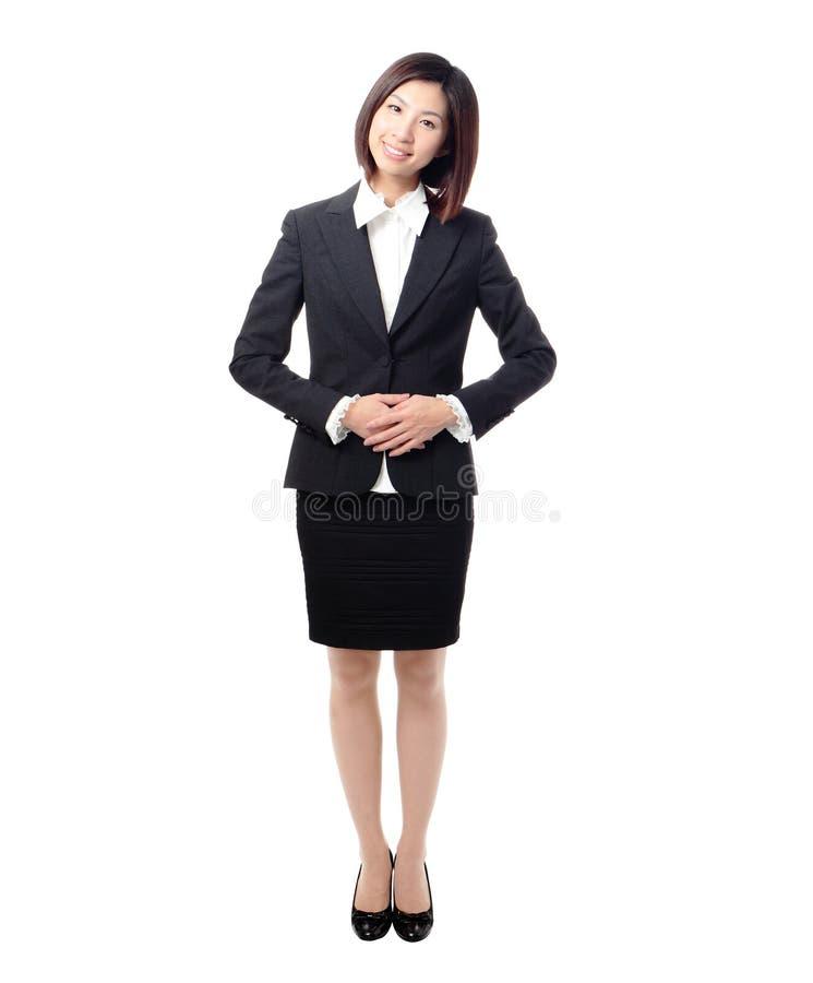 azjatykciego portreta uśmiechu trwanie kobiety potomstwa zdjęcia stock