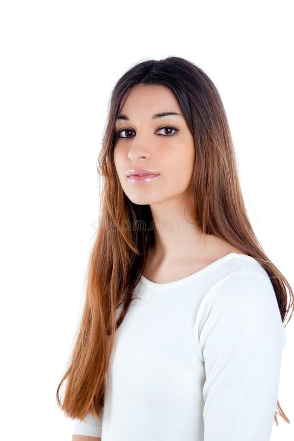azjatykciej brunetki włosiany hindus tęsk kobieta fotografia stock