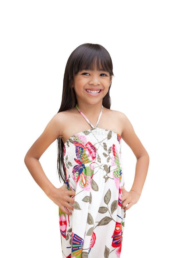 azjatykciej dziewczyny mały ja target2757_0_ fotografia stock