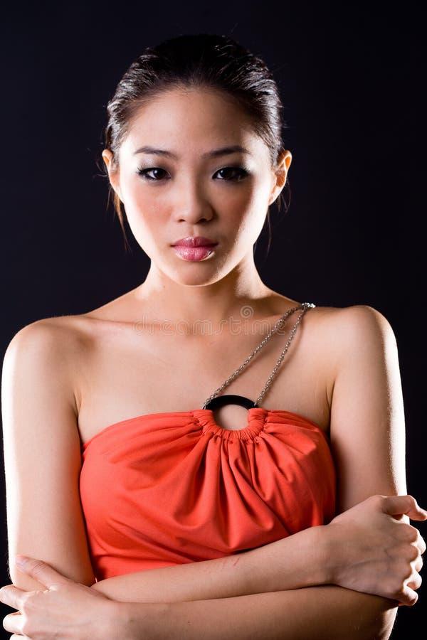 azjatykciej mody eleganccy kobiety potomstwa zdjęcia royalty free