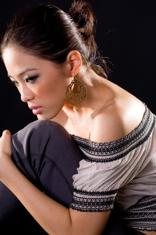 azjatykciej mody eleganccy kobiety potomstwa zdjęcie royalty free