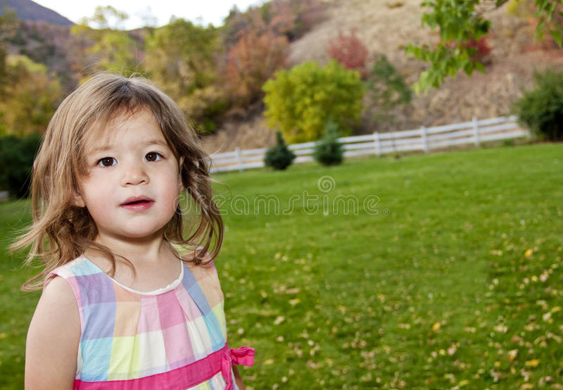 azjatykciej pięknej dziewczyny mały portret fotografia royalty free