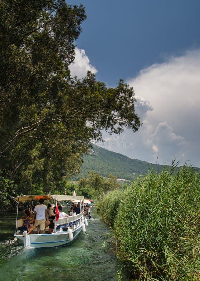 Azmak-Fluss von Ula/von Akyaka/von Mugla stockfotografie