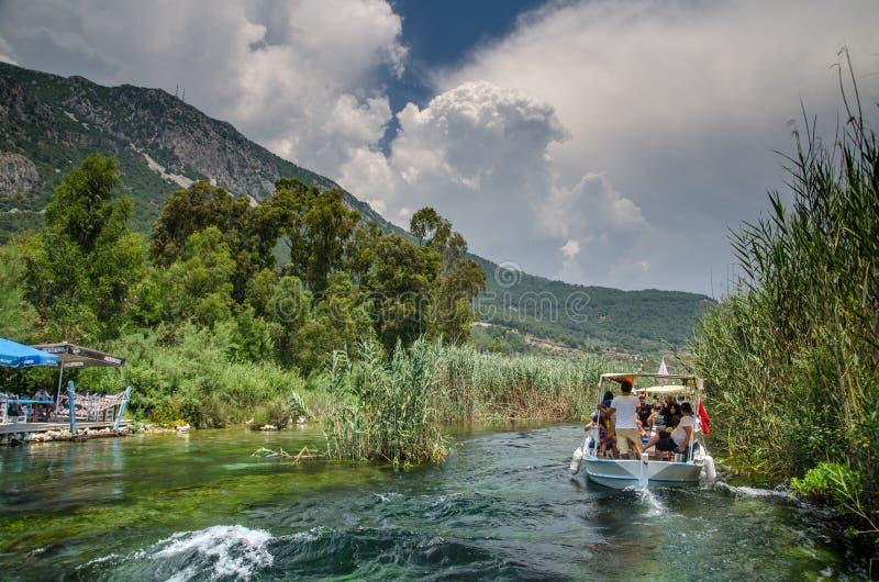 Azmak-Fluss von Ula/von Akyaka/von Mugla lizenzfreies stockbild
