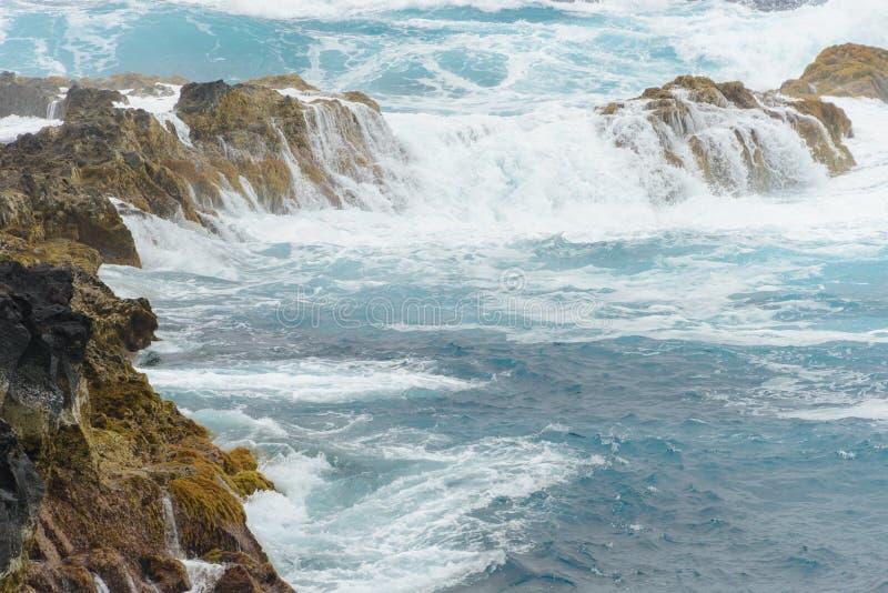 Azorean海岸 免版税库存照片