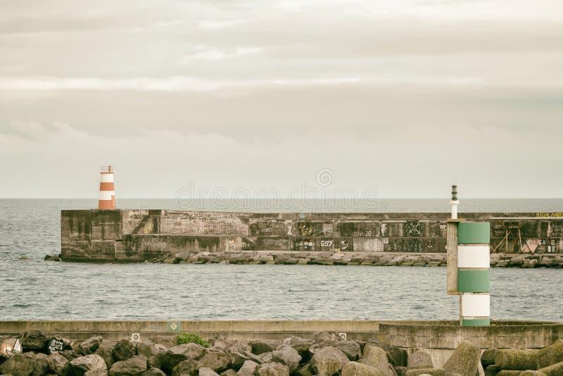 Azorean Harbor stock photography