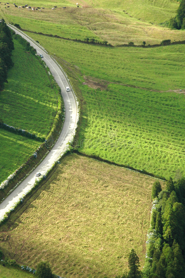 Free Azores Island Landscape And Curvy And Windy Roads Stock Images - 2091904