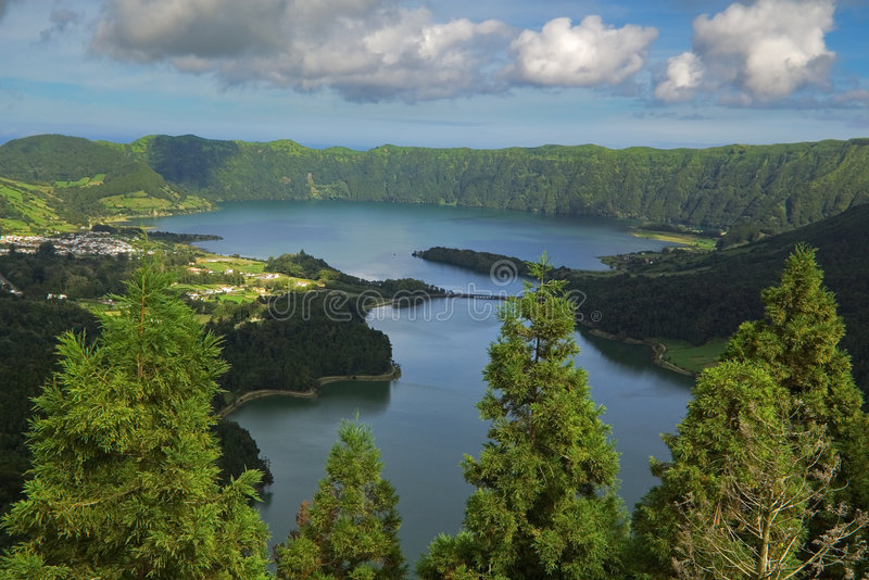 Azores viewpoint royalty free stock image