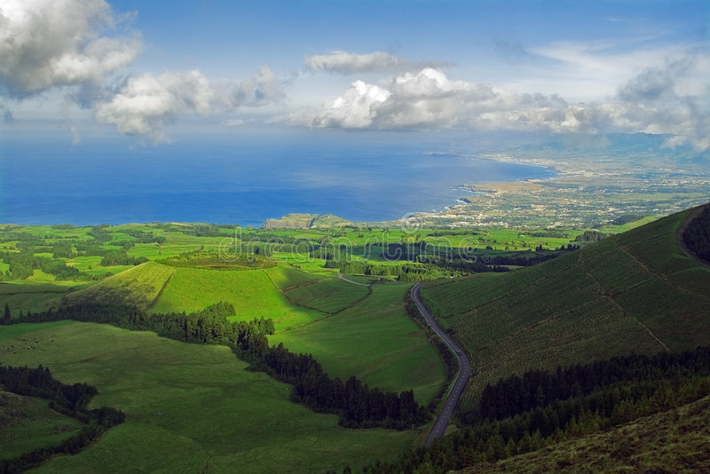 Azores viewpoint stock photography