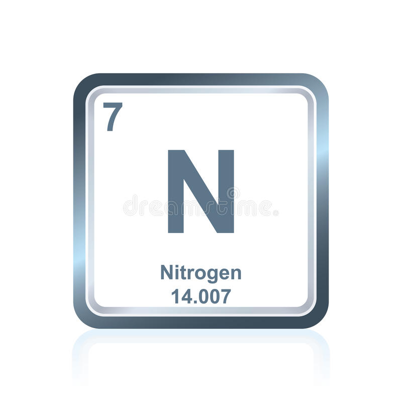 Azote d'élément chimique du Tableau périodique illustration de vecteur