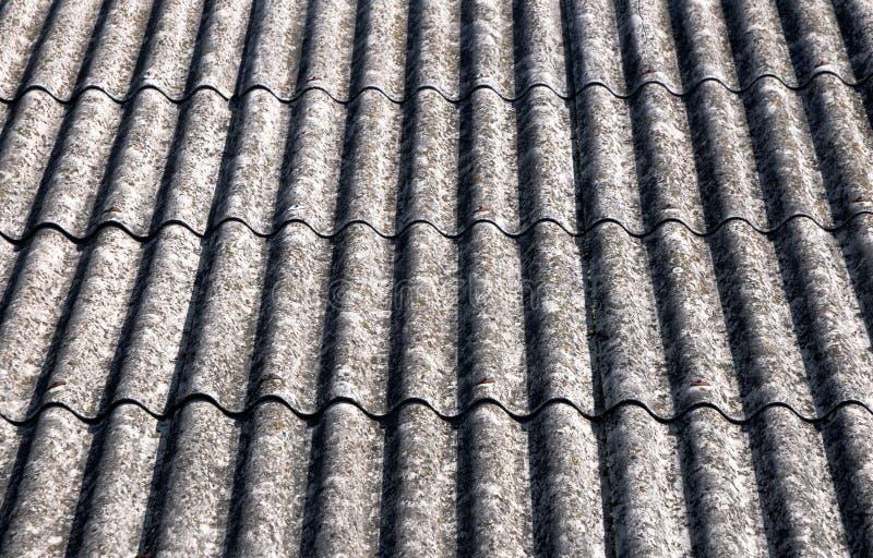 Azotea del asbesto fotos de archivo