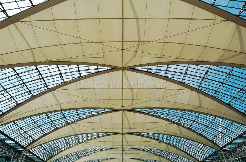 Azotea Munich del aeropuerto imagenes de archivo