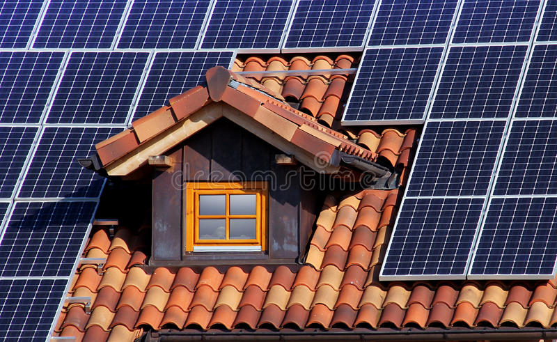Azotea solar fotografía de archivo