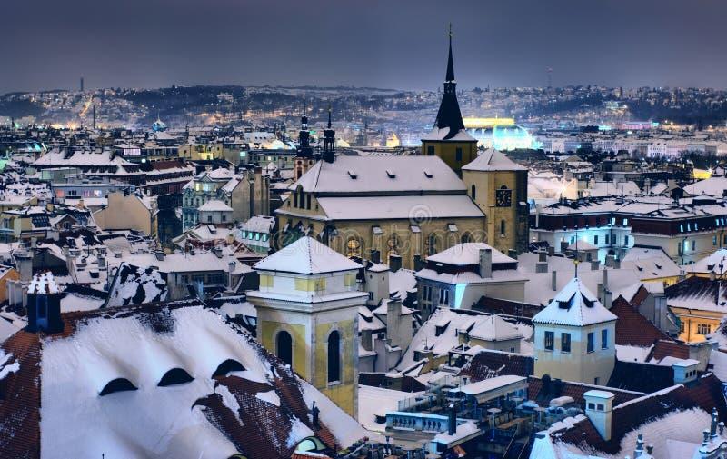 Azoteas de Praga foto de archivo libre de regalías