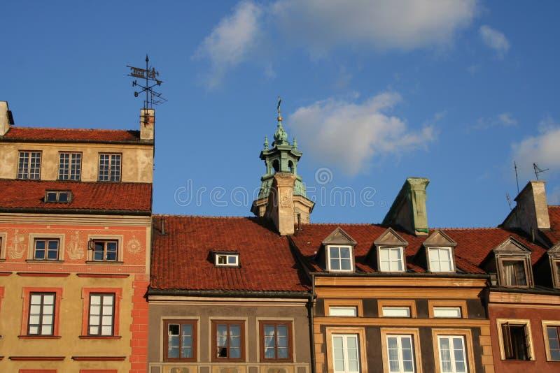 Azoteas de Varsovia fotografía de archivo