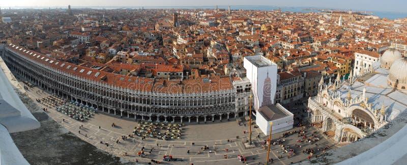 Azoteas de Venecia - panorama de la ciudad imagen de archivo libre de regalías