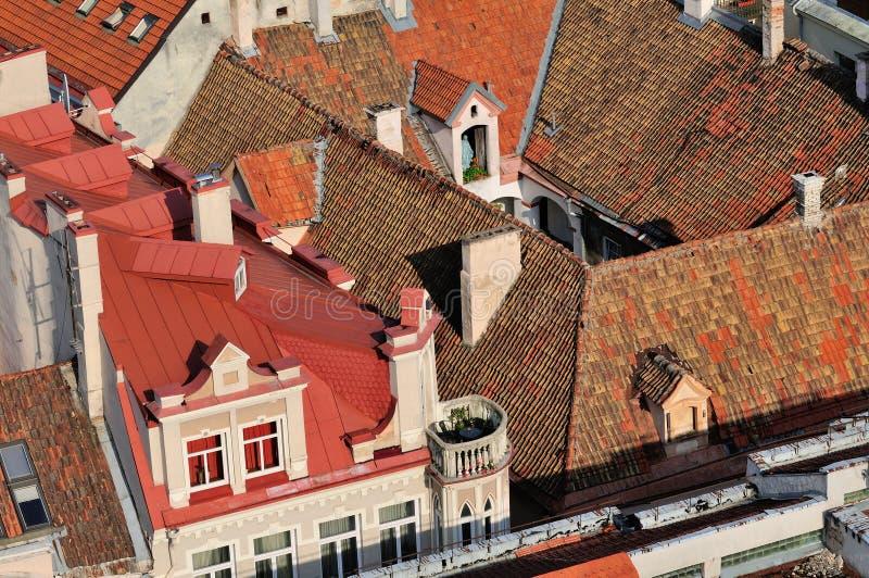 Azoteas de Vilnius foto de archivo libre de regalías