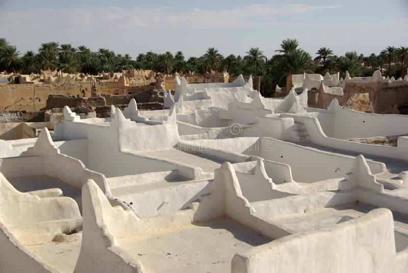 Azoteas en Ghadames, Libia fotos de archivo