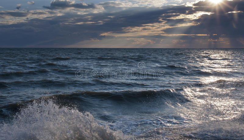 Azov. Ukrainian landscapes. Sea of Azov royalty free stock photography