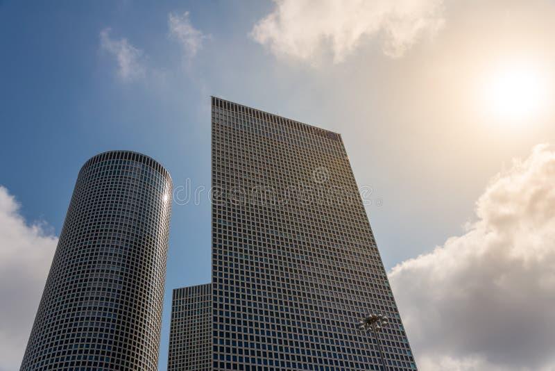 Azrieli大厦在特拉维夫 免版税库存照片