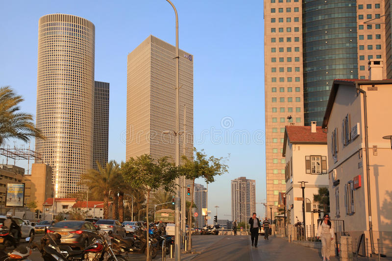 Azrieli Center and Sarona area in Tel Aviv, Israel. royalty free stock photos