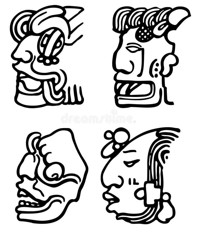 Aztèques illustration de vecteur