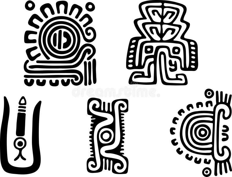 Aztèques illustration stock