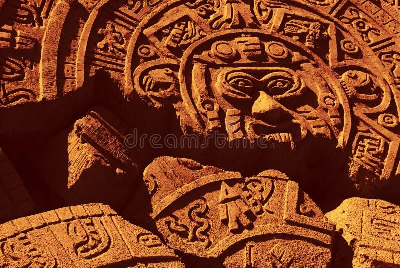 Aztec 1. Ruin of a ancient aztec calendar royalty free stock photo