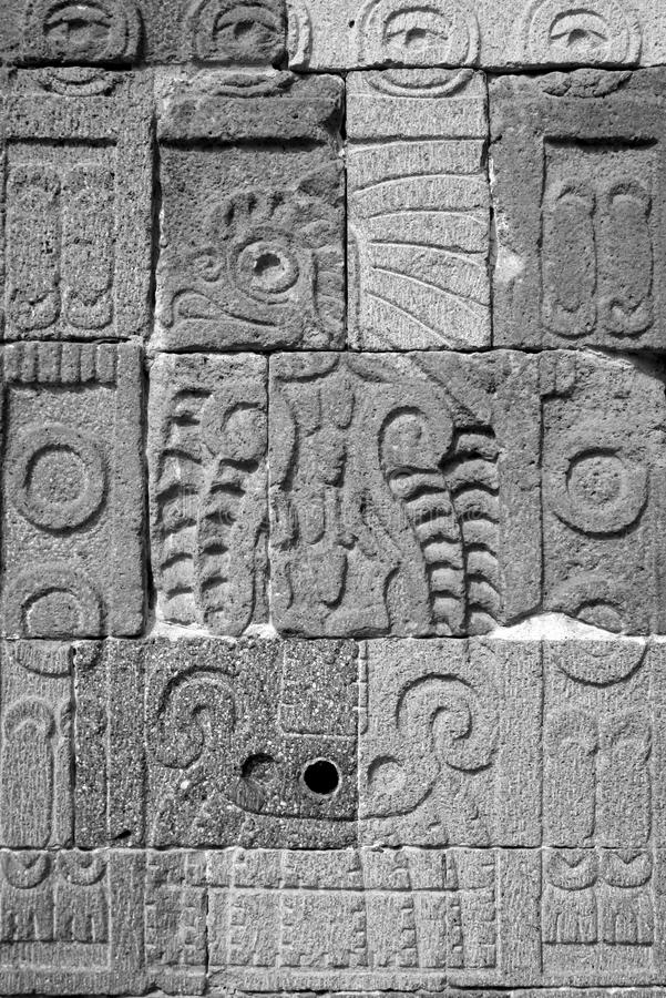 Aztec art. Aztec sculpture found in Teotihuacan near Mexico City royalty free stock image